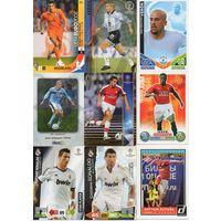 130 разных футбольных карточек(Panini,Prizm,Adrenalyn XL,MegaCracks).