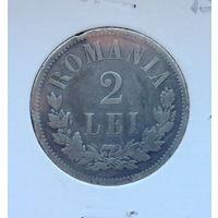 Румыния 2 лея 1875
