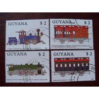 Гайана. Поезд 1988 (Guyana, поезда, железная дорога, тепловоз, паровоз, вагон)