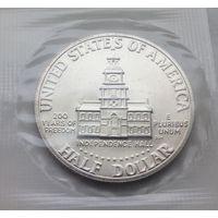 50 центов 1976 год в запайке серебро