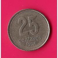 37-20 Аргентина, 25 сентаво 1994 г.