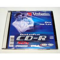 Диск CD-R Verbatium 700Mb 52x в пластмассовом боксе чистый, новый