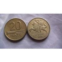 Литва 20 центов 2008 г.  распродажа