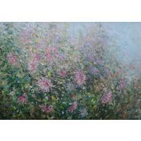"""Картина маслом """"Розовые хризантемы"""""""