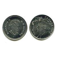 Канада 25 центов 2005 ВЕТЕРАНЫ АЦ UNC QUARTER