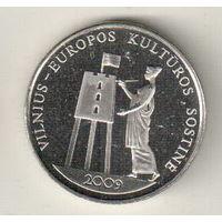 Литва 1 лит 2009 Вильнюс – культурная столица Европы