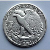 США 1/2 доллара. 1945. D. Walking Liberty Half Dollar