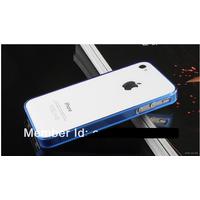 Ультратонкий силиконовый чехол-бампер для iPhone 4 4S не увеличивает размеры и надежно защищает iPhone