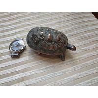Шкатулка СССР черепаха металл