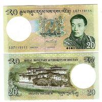 Бутан 20 нгултрум образца 2013 года UNC p30b