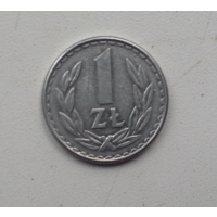 1 злотый 1986 г. Польша