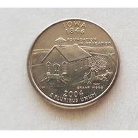 25 центов США 2004 г. штат Айова P