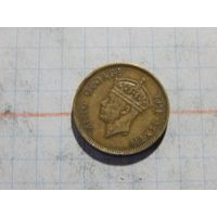 Гонконг британский 10 цент 1950 Георг