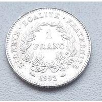 Франция 1 франк, 1992 200 лет Французской Республике  6-6-19