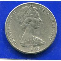 Новая Зеландия 20 центов 1980