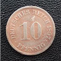 Германия 10 пфенниг 1897 г.