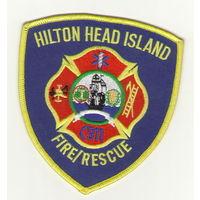США Шитый шеврон пожарной службы города Хилтон Хед Айленд штат Южная Каролина