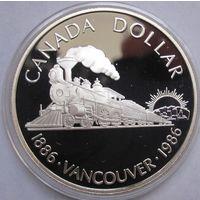 Канада, доллар, 1986, серебро, пруф