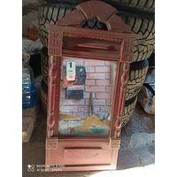 Зеркало старинное деревенское резное настенное