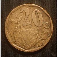 Южная Африка. ЮАР. 20 центов 1997 год