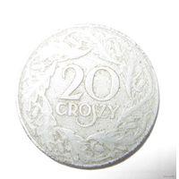 Польша. 20 грош. 1923 г. Цинк. ВМВ. Немецкая оккупация