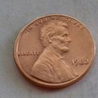 1 цент США 1982 г., AU