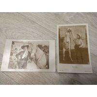 Ковбои. Гарри Купер и Том Микс. Вестерны. Старинные открытки.