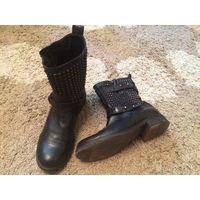 Фирм. стильные ботинки на клепках от Vero Cuoio