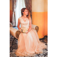 Свадебное платье, цвет пудра, + оно трансформер!
