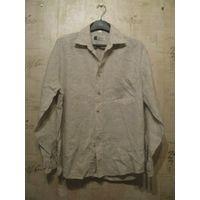 Мужская льняная рубашка на 46 р ПОгруди60см,длина73см, длина рукава58смРост 170-176