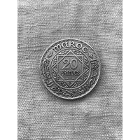 Марокко 20 франков 1928 г., редкий год