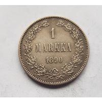Редкость 1 марка русская Финляндия 1890 год с рубля из коллекции