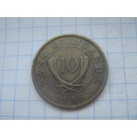 Уганда 10 центов 1966г.km2