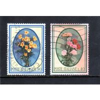 Италия.Ми-1207,1208.Цветы.Маргаритки.1966.