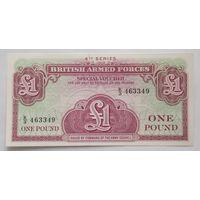 Великобритания 1 фунт 4 серия армейский ваучер