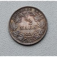 "Германия 1/2 марки, 1914 ""A"" - Берлин 7-10-27"