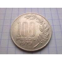 Уругвай 100 песо 1973