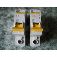 Автоматический выключатель IEK ВА47-29 С16 230/400В.