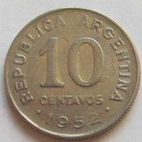 Аргентина, 10 сентаво 1952 г