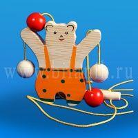 """Деревянная игрушка """"Медведь-верхолаз"""""""