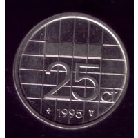 25 центов 1995 год Нидерланды