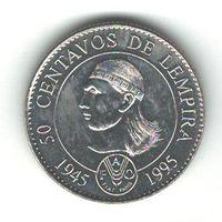 Гондурас 50 сентавос 1994 года. Состояние UNC!