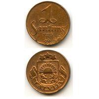 Латвия 1 сантим 1926 г. KM#1