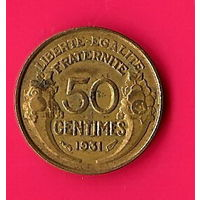 48-03 Франция, 50 сантимов 1931 г.