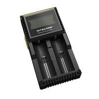 Зарядное устройство Sysmax/Nitecore Digicharger D2  для Li-ion/Ni-MH/Ni-Cd аккумуляторов типоразмера: 18650/17670/18490/17500/A A/AAA и др