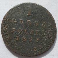1 грош польски с меди краевой 1823