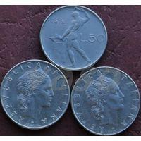 50 лир 1978R Италия КМ# 95.1 нержавеющая сталь