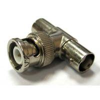 Т-коннектор BNC-Т для коаксиального кабеля