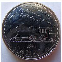Канада 1 доллар 1981 г