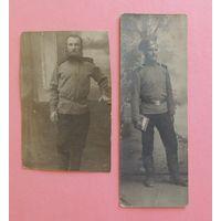 """Фото """"Солдаты РИ"""" (фото обрезанные), до 1917 г., 2 шт."""